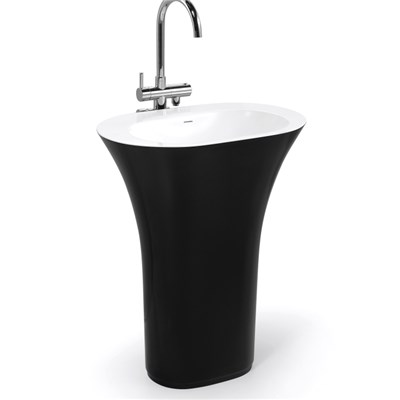 Best Solid Surface Raw Material Artificial Marble Basin Sink BPB003