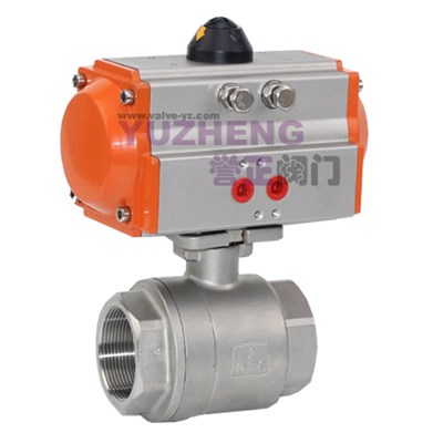 Stainless Steel 2 Piece Pneumatic Ball Valve