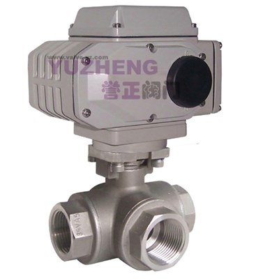 Thread 3Way Electric Ball Valve