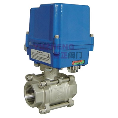 3PC Thread Electric Ball Valve