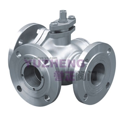 Stainless Steel 3Way Flanged Ball Valve