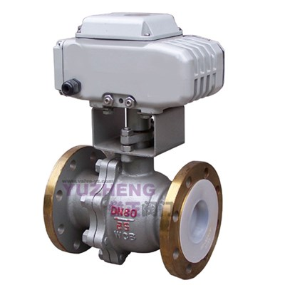 2PC Flange Electric Ball Valve With Inner FPM