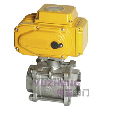 Stainless Steel Ball Valve With Electric Actuator