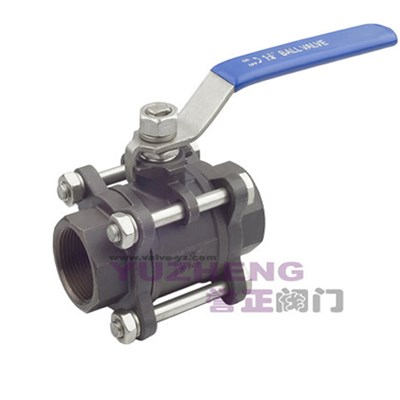3PC Carbon Steel Thread Ball Valve