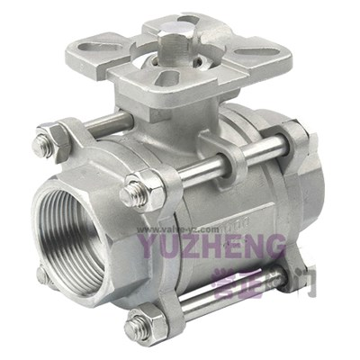 3PC Stainless Steel Ball Valve With Direct Pad