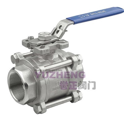 3PC Stainless Steel Ball Valve With ISO5211 Pad