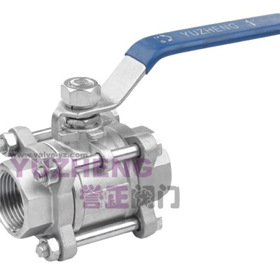 3PC Stainless Steel Thread Ball Valve