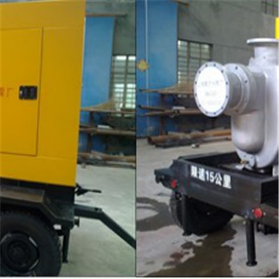 KDZY Model Four-wheel Mobile Diesel Self-priming Pump-Municipal Typhoon And Flood Prevention Drainage Mobile Pump Station