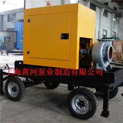 KDWY Model Trailer Type Diesel Water Suction Pump-Flood And Draining Waterlogging(2-wheel Trailer)