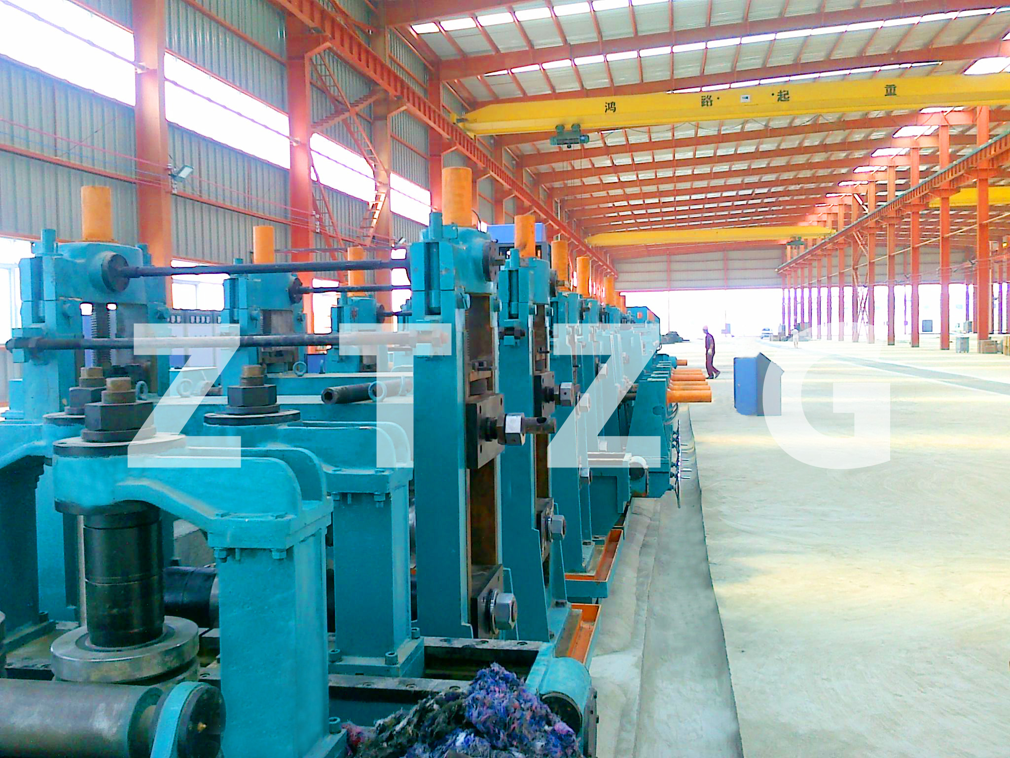 ERW273 carbon steel HF Straight Welded Pipe production Line