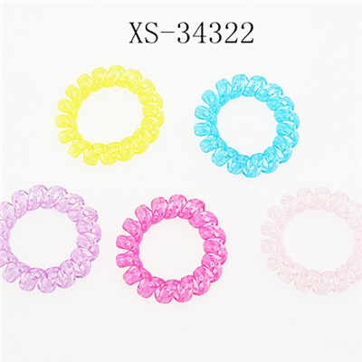 Spiral Telephone Wire Fashion Hair Bands