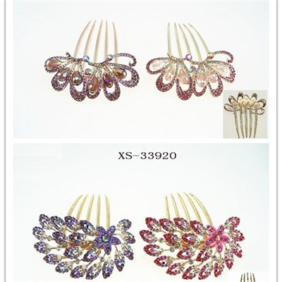 Boutique Alloy Rhinestone Wedding Hair Combs