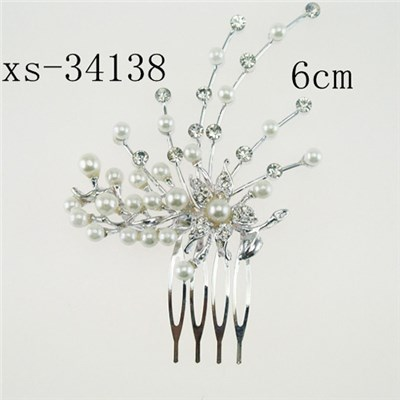 Graceful Pearl Party Hair Combs