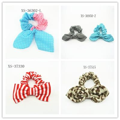 Cute Polyester Bow Knot Scrunchies