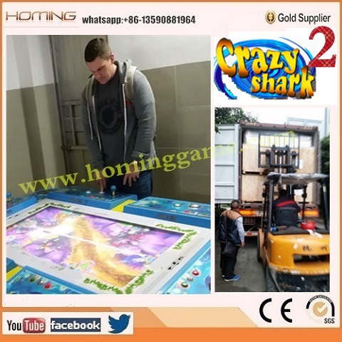 Crazy Shark arcade fishing game machine/fish hunter game for 8, 10 players