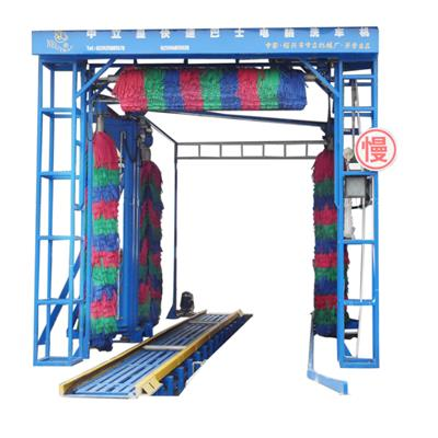 Automatic 4 Brushes Double Layers Tunnel Bus Wash Machine