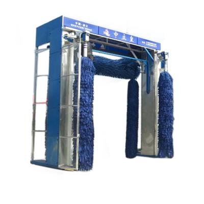 High Pressure 5 Brushes Monolayer Rollover Bus Wash Equipment