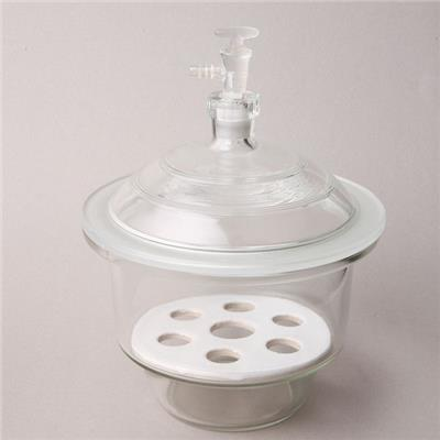Clear Glass Vacuum Desiccator With Porcelain Plate