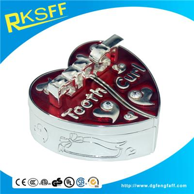 Zinc Alloy Red Heart-shaped Tooth Boxs