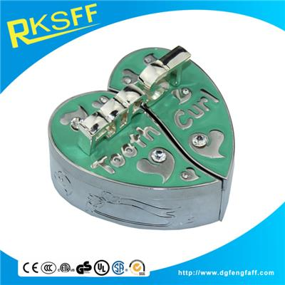 Zinc Alloy Green Heart-shaped Tooth Boxs