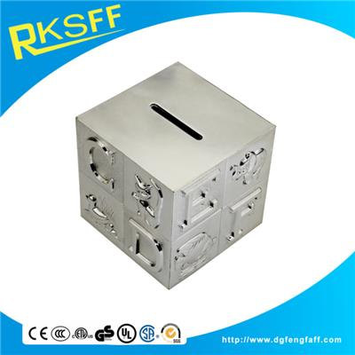 Zinc Alloy Square Coin Bank