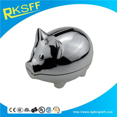 Zinc Alloy Pig Coin Bank