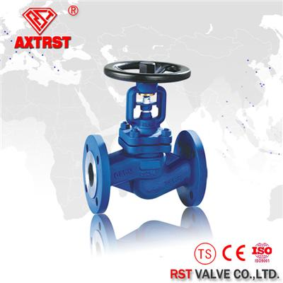 Flange Ends Cast Steel Bellow Seal Globe Valve