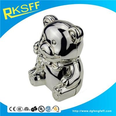 Zinc Alloy Little Bear Coin Bank