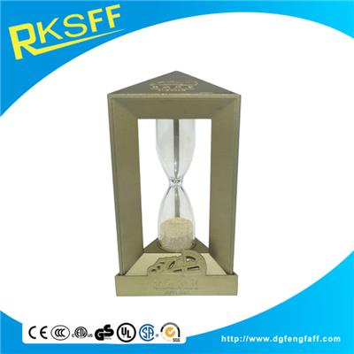 Zinc Alloy Brass Triangle Hourglass