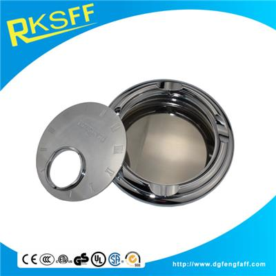 Zinc Alloy Silver Round Big Ashtrays