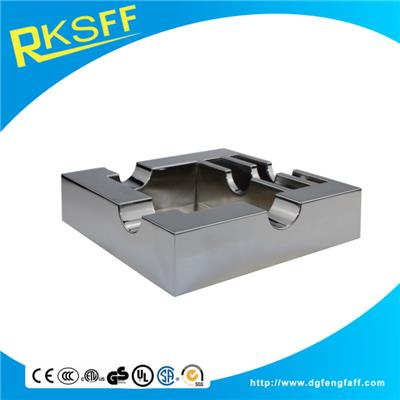 Zinc Alloy Silver Square Big Ashtrays