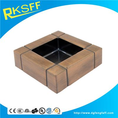 Zinc Alloy Copper Square Ashtrays