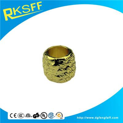 Zinc Alloy Grain Gold Rings