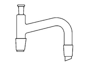 Standard Ground Mouth 105°-75° Bent Distilling Head