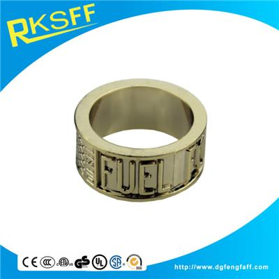 Zinc Alloy Lettering Gold Rings