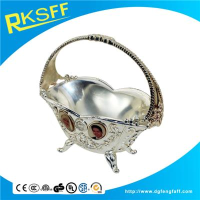 Zinc Alloy Silver Wedding Baskets