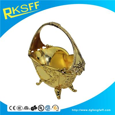 Zinc Alloy Gold Wedding Baskets