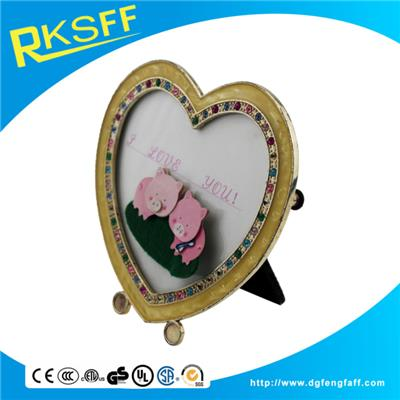 Zinc Alloy Heart-shaped Photo Frame