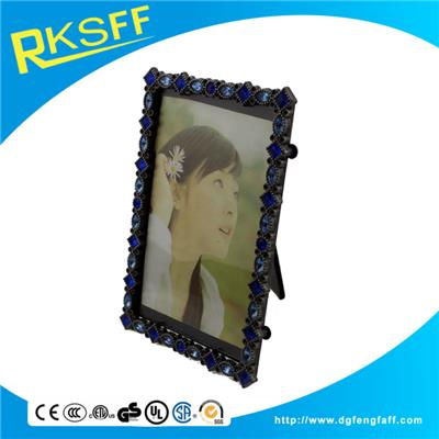 Zinc Alloy Square Photo Frame With Diamonds