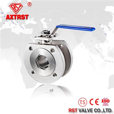 Stainless Steel Standard Italian API Wafer Type Ball Valve With ISO5211 Direct Mounting Pad