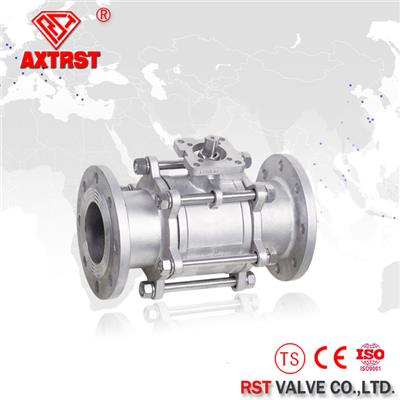 3PC Full Port Flanged Floating Stainless Steel Ball Valve With ISO5211 High Mounting Pad (PN16/PN40)