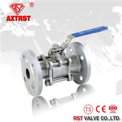 3PC Full Port Flange Floating Stainless Steel Ball Valve PN16/PN40