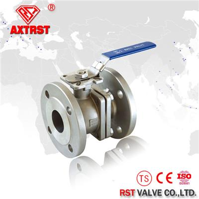 2 Piece Stainless Steel Floating Flanged Ball Valve With ISO5211 Direct Mounting Pad