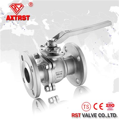 Two Piece JIS 10K Floating Stainless Steel Flanged Ball Valve