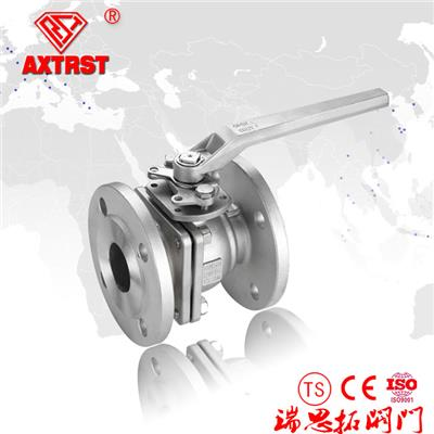 2PC Stainless Steel DIN F4/F5 Flanged Floating Ball Valve