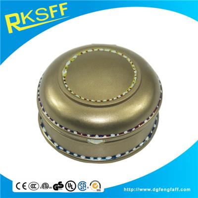 Zinc Alloy Round Jewelry Box