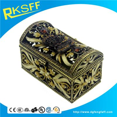 Zinc Alloy Retro Jewelry Box
