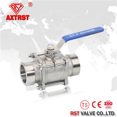 3PC Stainless Steel Full Port Floating NPT/BSP/BSPT/DIN259 Ball Valve 1000WOG