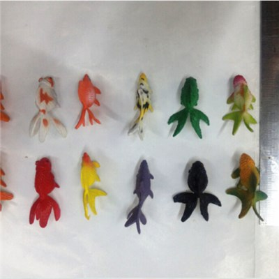 Small PVC Goldfish Toy For Vending Machine Capsule