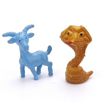 1.75 Inch Mini Chinese Zodiac Plastic Animal Toy